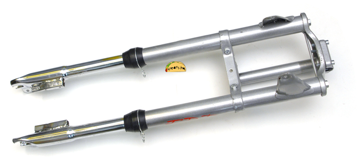 puch maxi moped silver EBR front forks | graveyard